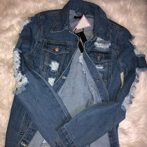 Jean jacket by pretty little thing